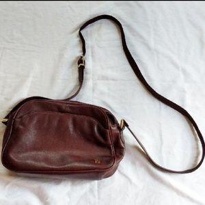 Etienne Aigner Burgundy Crossbody Leather Purse